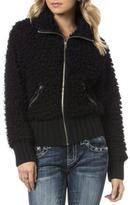 Miss Me Faux Fur Bomber Jacket