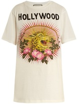 Gucci Hollywood Leopard-print cotton oversized T-shirt