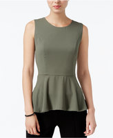 Bar III High-Low Peplum Top, Only at Macy's