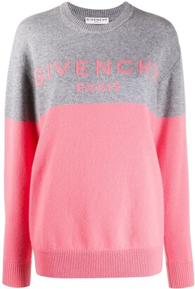 Givenchy Colour Block Logo Cashmere Jumper