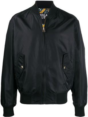 Versace reversible baroque print bomber jacket
