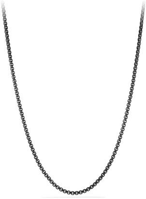 David Yurman Chain Stainless Steel Box Necklace