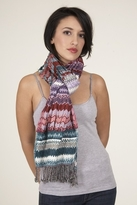 Tolani ZigZag Scarf in Blue/Pink