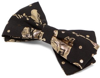 Emilia Wickstead Kennedy Floral-brocade Bow Hair Clip - Black