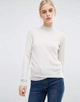 Monki Rib Knit High Neck Sweater