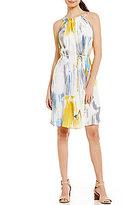 Antonio Melani Fisher Printed Georgette Dress