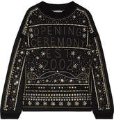Opening Ceremony Embellished Cotton-jersey Sweatshirt - Black