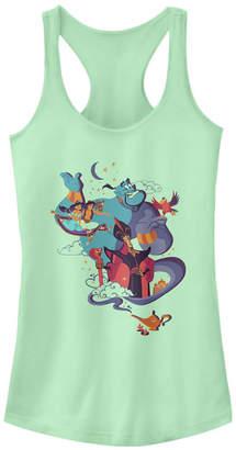 Disney Juniors' Princesses Aladdin Vintage-like Poster Ideal Racerback Tank Top