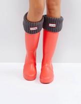 Hunter Grey Cardigan Cuff Tall Boot Socks
