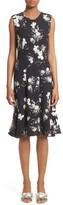 Erdem Women's Neo Floral Print Jersey Ruffle Hem Dress