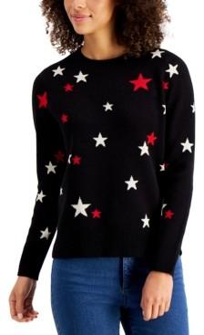 Charter Club Metallic Star-Print Sweater, Created for Macy's