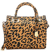 Gianni Bini Braided Handle Leopard-Print Satchel