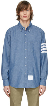 Thom Browne Blue Chambray 4-Bar Shirt