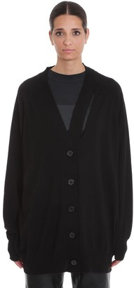 Maison Margiela Cardigan In Black Wool