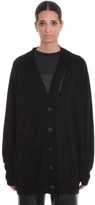 Maison Margiela Cardigan In Black Wool