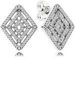 Pandora Earrings Button 296208CZ Geometric Lines