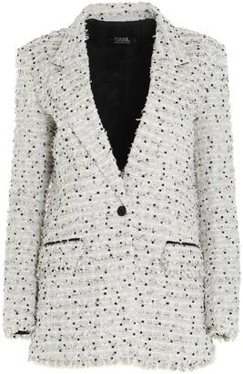 Karl Lagerfeld Paris Oversized Boucle Blazer