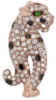 Effy 0.41 TCW Diamonds, Tsavorite and 14K Rose Gold Pin