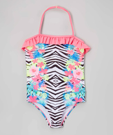 Jantzen Pink Paradise Zebra One-Piece - Girls