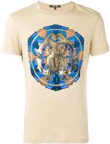 Roberto Cavalli Circle print T-shirt - men - Cotton - XL