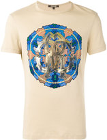 Roberto Cavalli Circle print T-shirt - men - Cotton - XS