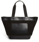 Alexander Wang Large Aw Canvas & Leather Tote - Black