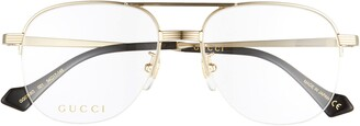 Gucci 54mm Aviator Optical Glasses