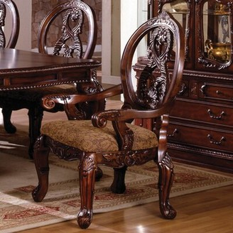Astoria Grand Duerr Queen Anne Back Arm chair Dining Chair Color: Antique Cherry