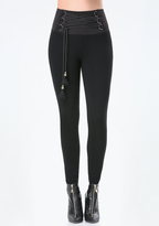 Bebe Corded High Rise Leggings