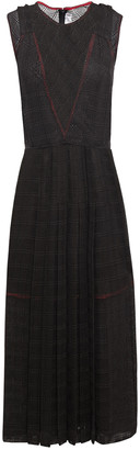 Victoria Beckham Pleated Lace Midi Dress