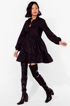 Nasty Gal Womens Smock It and See Mini Shirt Dress - Black