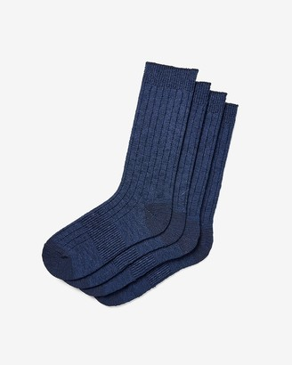 Express 2 Pack Ribbed Sweater Socks
