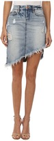 Blank NYC Distressed Denim Skirt in Total Betty