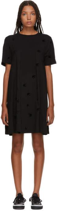 McQ Black Cut Babydoll Dress