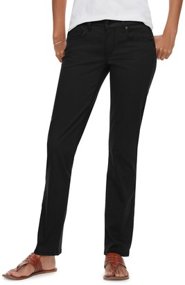 Sonoma Goods For Life Petite Straight-Leg Midrise Sateen Pants