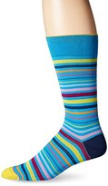 Bugatchi Men's Stripes and Lines Fancy Sock