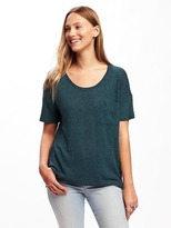 Old Navy Linen-Blend Boyfriend Tee for Women