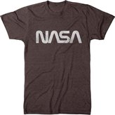 Trunk Candy Men's Vintage NASA Worm Logo Distressed Premium Tri-Blend T-Shirt