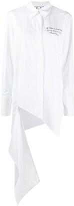 Off-White Meteor Shower draped shirt