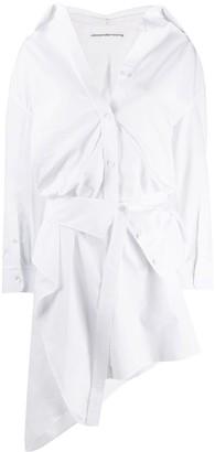 Alexander Wang Off-The-Shoulder Asymmetric Shirt Dress