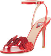 L'Amour Leather Embellished Sandal