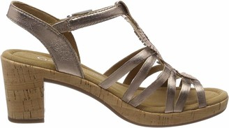 Gabor Shoes Women's Metallic Leather Uppers Ankle Strap Sandals