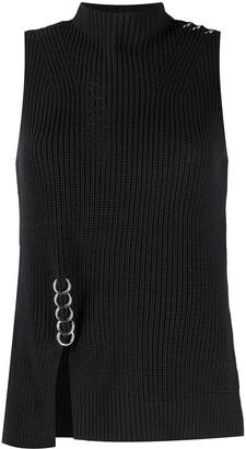 Diesel Ring-Detail Rib Knit Top