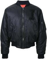 Iceberg logo patch bomber jacket