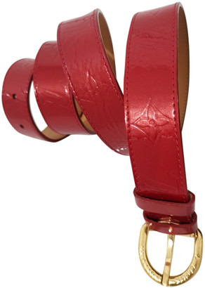 Louis Vuitton Red Patent leather Belts