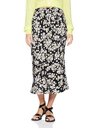 New Look Women's Daisy Bias Cut Skirt,8 (Manufacturer Size:8)