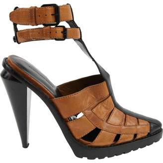 Alexander Wang Brown Leather Sandals