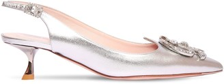 Roger Vivier 45mm I Love Vivier Metallic Leather Pump