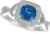 LeVian Le Vian® Sapphire (1-1/10 ct. t.w.) and Diamond (1/3 ct. t.w.) Ring in 14k White Gold