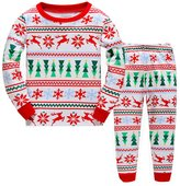 Kidsmall Girls Christmas Pajamas Kids Christmas Sleepwear Size-7T